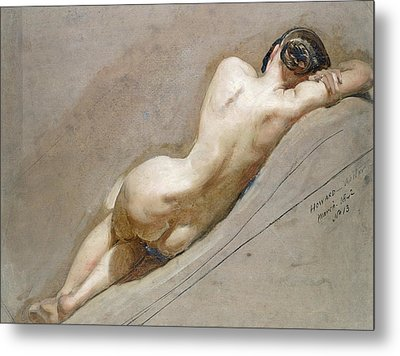 Life Study Of The Female Figure Metal Print by William Edward Frost