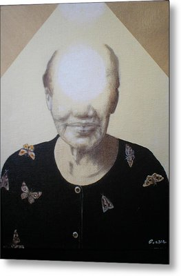 Light Face Metal Print by Jimmy  Ovadia