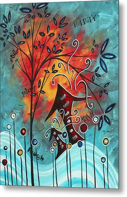 Live Life II By Madart Metal Print by Megan Duncanson