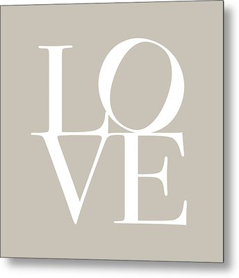 Love In Taupe Metal Print by Michael Tompsett