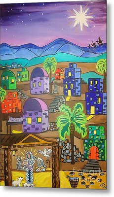 Love In The City Of David Metal Print by Stephanie Temple