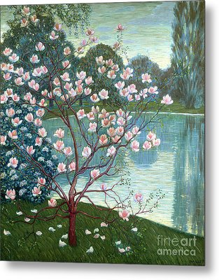 Magnolia Metal Print by Wilhelm List