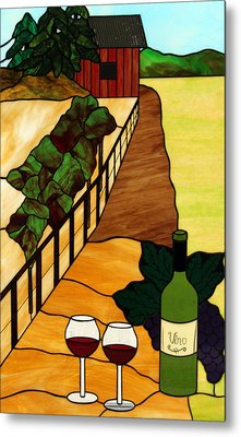 Maine Vineyard Metal Print by Jane Croteau