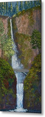 Majestic Multnomah Metal Print by Ron Smothers