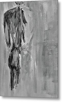 Male Nude 3 Metal Print by Julie Lueders