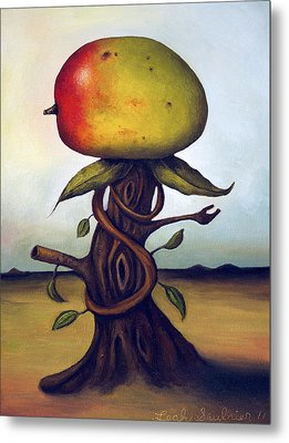 Mango Tree Aka Senor Mango Metal Print by Leah Saulnier The Painting Maniac