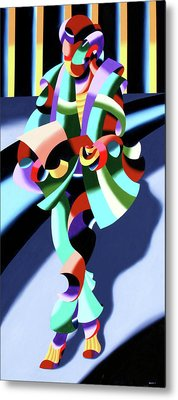 Mark Webster - Abstract Futurist Modern Woman In Tokyo Metal Print by Mark Webster