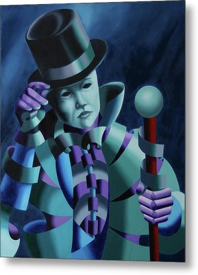 Mask Of The Magician - Abstract Oil Painting Metal Print by Mark Webster