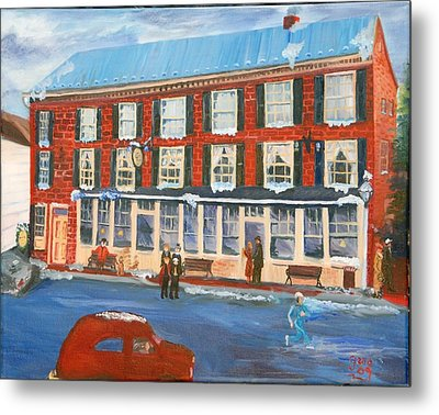 Mealeys Tavern Metal Print by Gloria Condon