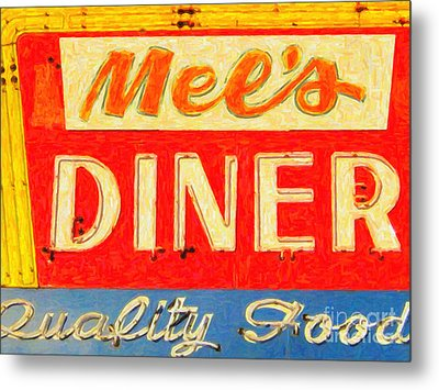 Mels Diner Metal Print by Wingsdomain Art and Photography