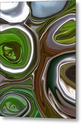 Metal Abstract Metal Print by Linnea Tober