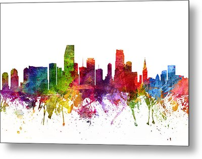 Miami Cityscape 06 Metal Print by Aged Pixel