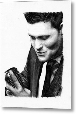 Michael Buble Metal Print by Rosalinda Markle