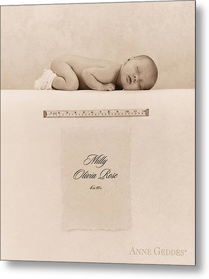 Milly Olivia Rose Metal Print by Anne Geddes