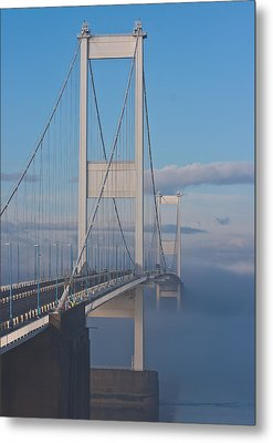 Mist Over The Severn Metal Print by Brian Roscorla