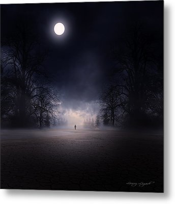 Moonlight Journey Metal Print by Lourry Legarde