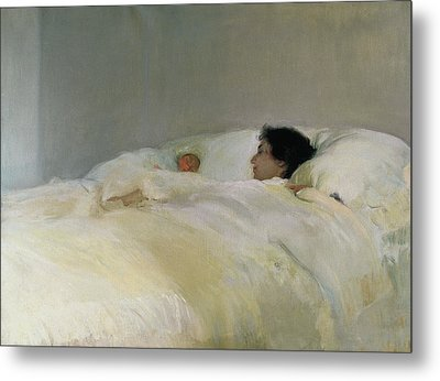 Mother Metal Print by Joaquin Sorolla y Bastida