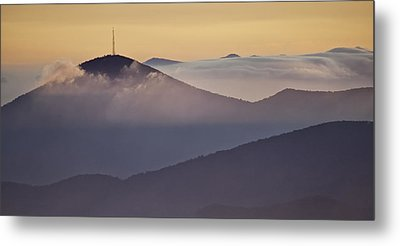 Mount Pisgah In Morning Light - Blue Ridge Mountains Metal Print by Rob Travis