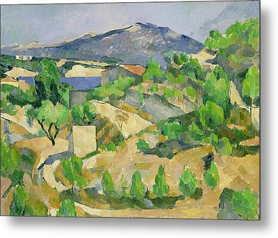 Mountains In Provence Metal Print by Paul Cezanne