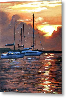 Moving Toward The Light Metal Print by Anthony Falbo