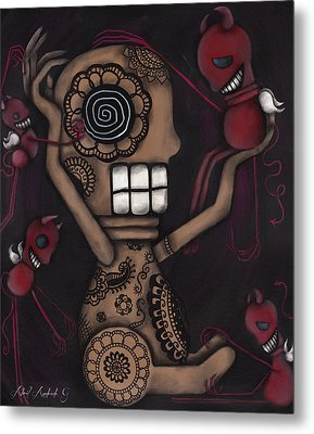 My Conscience Metal Print by  Abril Andrade Griffith