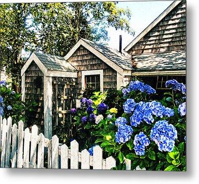 Nantucket Cottage No.1 Metal Print by Tammy Wetzel