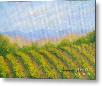 Napa Valley Vineyard Metal Print by Jerome Stumphauzer
