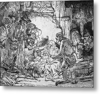 Nativity Metal Print by Rembrandt