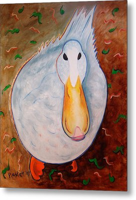 Neon Duck Metal Print by Scott Plaster