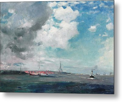 New Brighton From The Mersey Metal Print by JH Hay