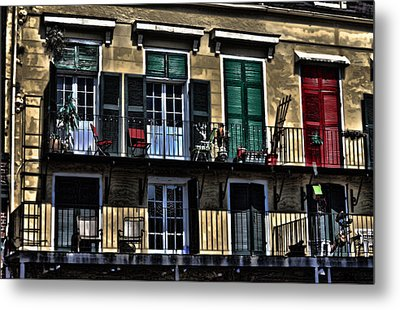 New Orleans Balcony Metal Print by Cecil Fuselier