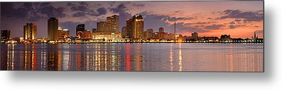 New Orleans Skyline At Dusk Metal Print by Jon Holiday