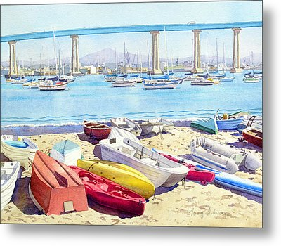 New Tidelands Park Coronado Metal Print by Mary Helmreich