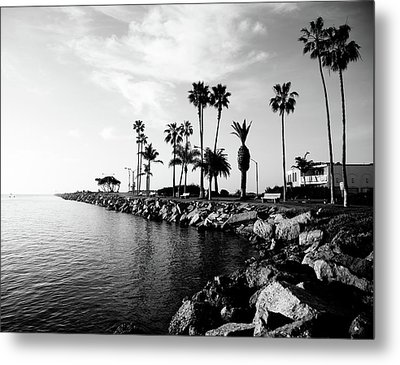 Newport Beach Jetty Metal Print by Paul Velgos