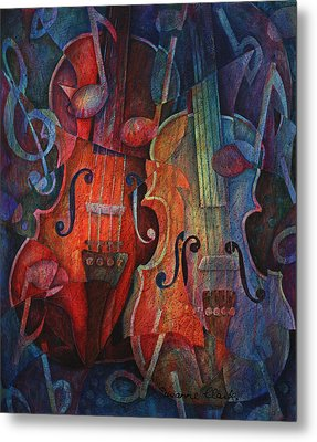 Noteworthy - A Viola Duo Metal Print by Susanne Clark