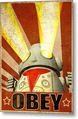 Obey Version 2 Metal Print by Michael Knight