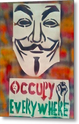 Occupy Mask Metal Print by Tony B Conscious