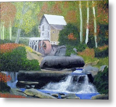 Old Grist Mill Metal Print by John Smith