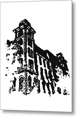 Old Main Building In Fayetteville Ar Metal Print by Amanda  Sanford