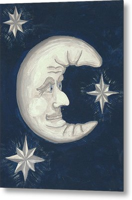 Old Man Moon Metal Print by Gordon Wendling