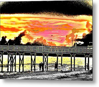 On The Beach Metal Print by Bill Cannon