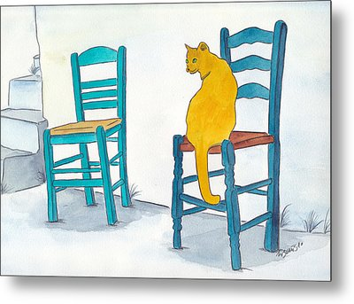 Orange Cat Metal Print by Michaela Bautz
