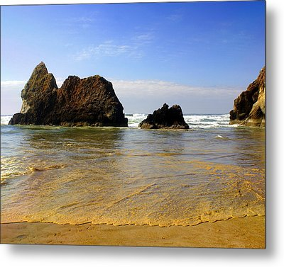 Oregon Coast 9 Metal Print by Marty Koch