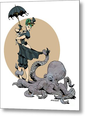 Otto By The Sea Metal Print by Brian Kesinger