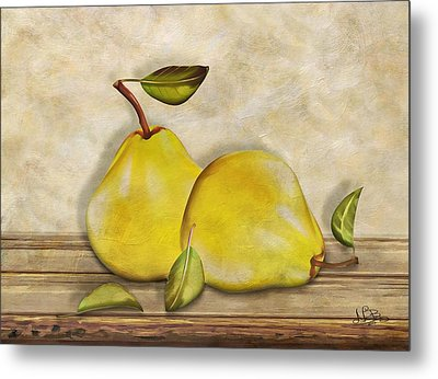 Pair Of Pears Metal Print by Nina Bradica