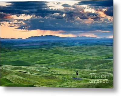 Palouse Storm Metal Print by Mike  Dawson