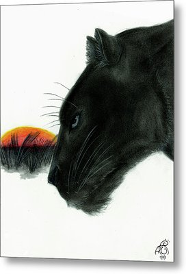 Panther At Dusk Metal Print by Tiphanie Erickson