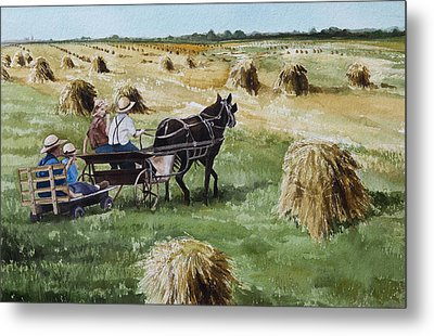 Parade Of Oats Metal Print by Kelly Morrow
