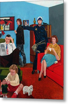 Parenting In The Sixties Metal Print by Cecil Williams