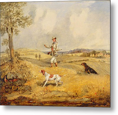 Partridge Shooting  Metal Print by Henry Thomas Alken